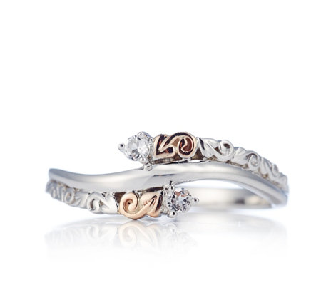 Clogau 9ct Rose Gold & Sterling Silver Tree of Life Ring