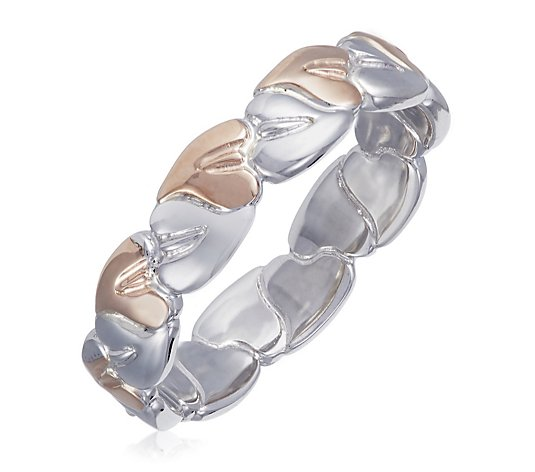 Clogau Tree of Life Ring Sterling Silver & 9ct Rose Gold