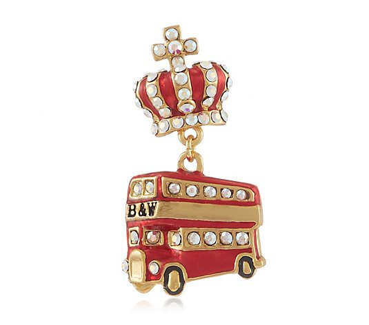 Butler & Wilson Crown & Bus Clutch Pin Brooch