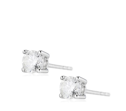 0.50ct Diamond Round Brilliant Cut Stud Earrings 9ct Gold