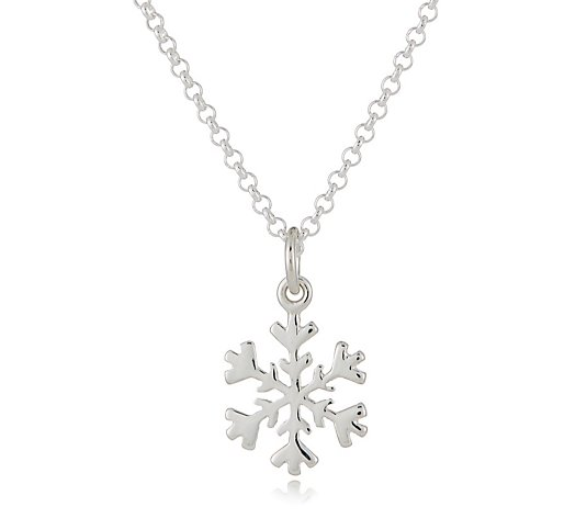 Lily Charmed Christmas Charm 45cm Necklace Sterling Silver
