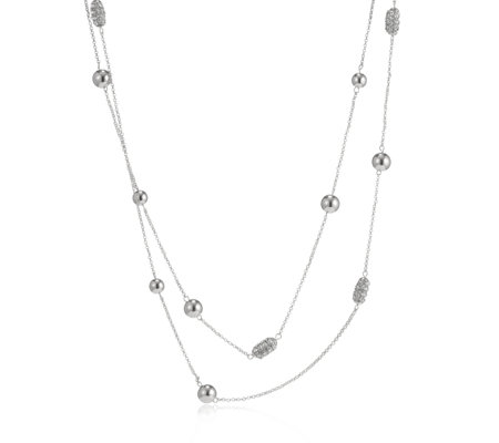 Loverocks Crystal Station Multi Row 76cm Necklace
