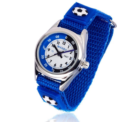 Tikkers Time Teacher Football velcro Strap Watch