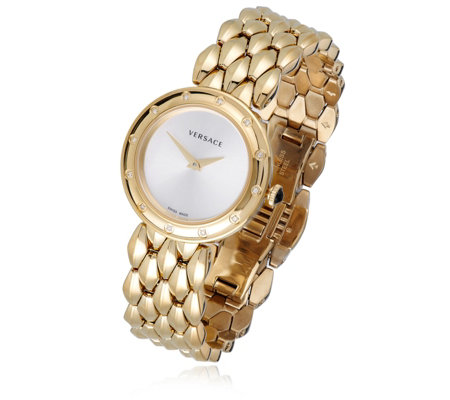 Versace Ladies V-Flare Stainless Steel Watch