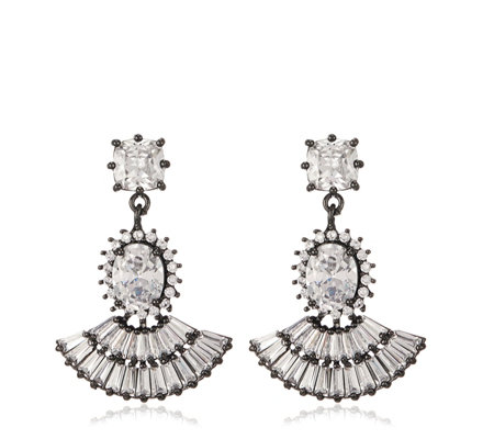 Butler & Wilson Crystal Drop Fan Earrings