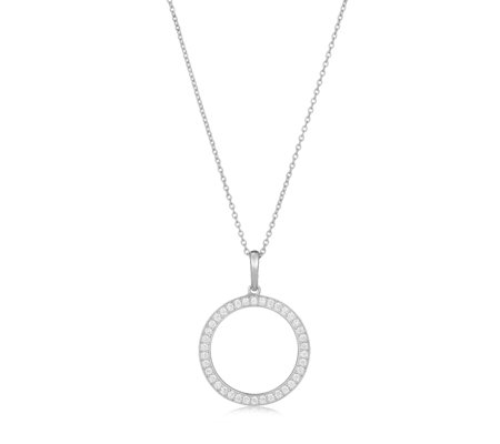 K by Kelly Hoppen Capri Collection Open Circle 80cm Necklace Sterling Silver