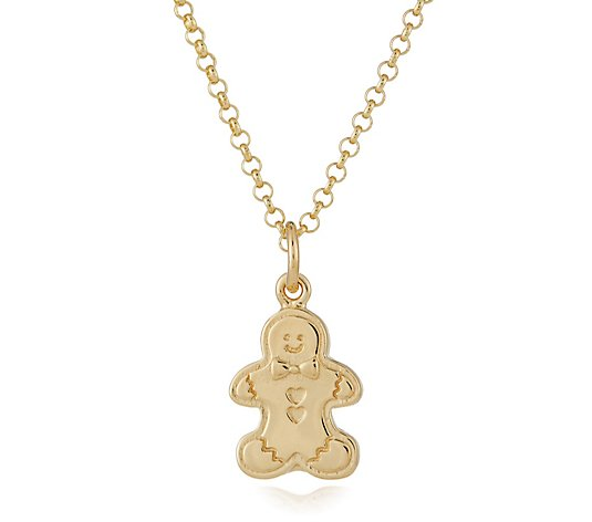 Lily Charmed Gingerbread Charm 45cm Necklace Sterling Silver