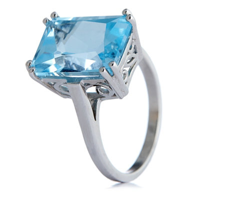 8.00ct Gemstone Radiant Cut Cocktail Ring Sterling Silver