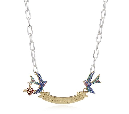Kate Thornton for Bibi Bijoux Affirmation Swallows ID Necklace
