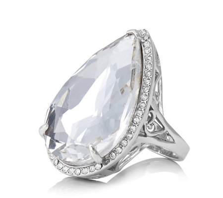 Loverocks Crystal Dress Ring