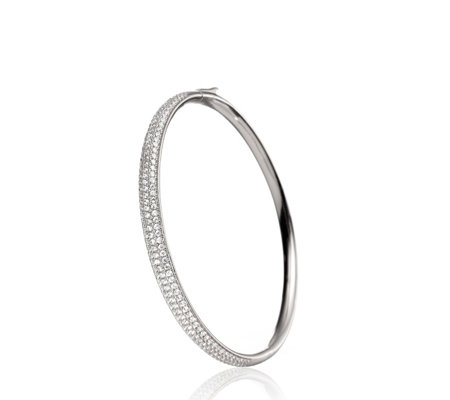 Folli Follie Fashionably Silver Sparkle Bangle