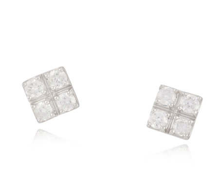 0.20ct Diamond Square Stud Earrings 9ct Gold
