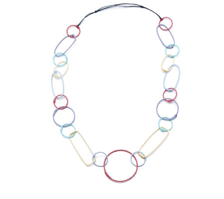 One Button Loopy Links 120cm Necklace