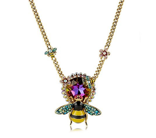 Butler & Wilson Large Crystal Bee Necklace