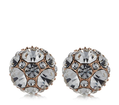 Frank Usher Crystal Cluster Magnetic Stud Earrings