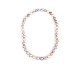 Honora 10 13mm Cultured Ming Multi Colour 45cm Necklace Sterling Silver 340589
