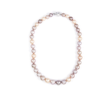 Honora 10-13mm Cultured Ming Multi Colour 45cm Necklace Sterling Silver