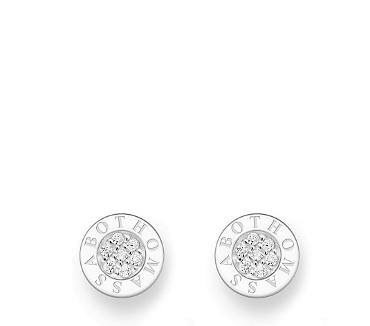 Thomas Sabo Signature Pave Stud Earrings Sterling Silver