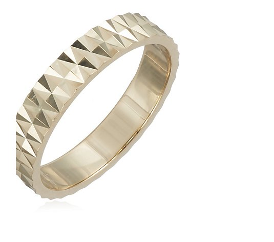 9ct Gold Textured Band Ring 2.7 grams