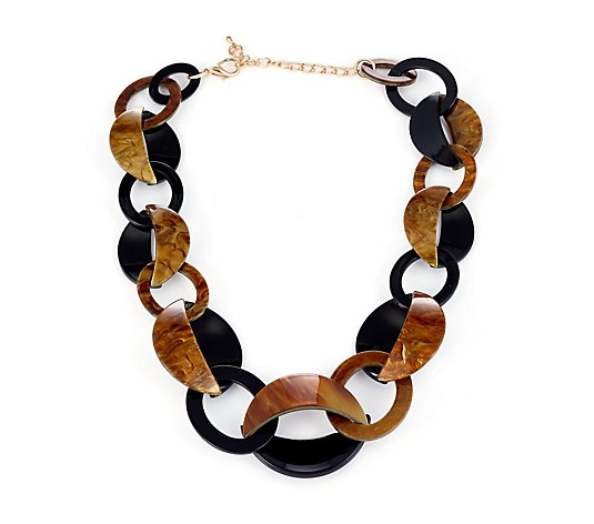 Frank Usher Flat Linked Necklace