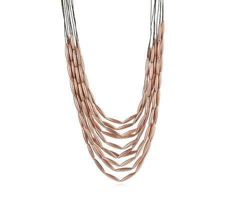 Frank Usher Multi Strand Metal Links 100cm Necklace