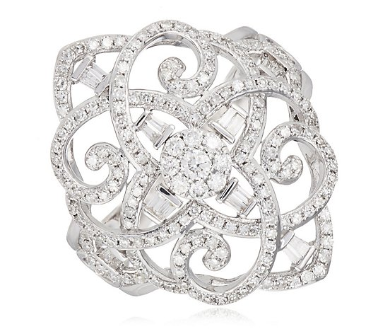 0.77ct Diamond Estate Collection Filigree Ring 9ct Gold