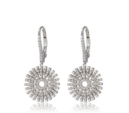 Escape by Melissa Odabash Sunray Leverback Earrings Sterling Silver