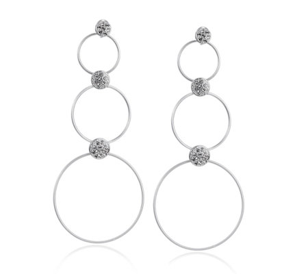 Pilgrim Hoop & Ball Statement Earrings