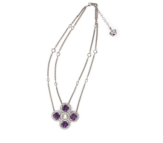 Butler & Wilson Crystal Flower 44cm Necklace
