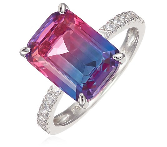 Diamonique 5.5ct tw Simulated Tourmaline Ring Sterling Silver