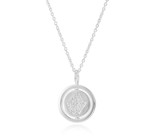 Radley Dog Collection Rotating Disc 45cm Necklace Sterling Silver