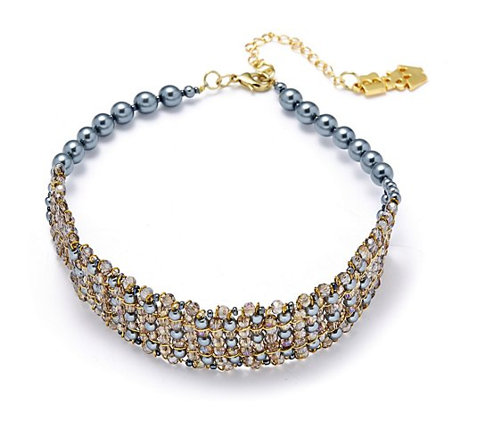 Butler & Wilson Cluster Faux Pearls 36cm Choker