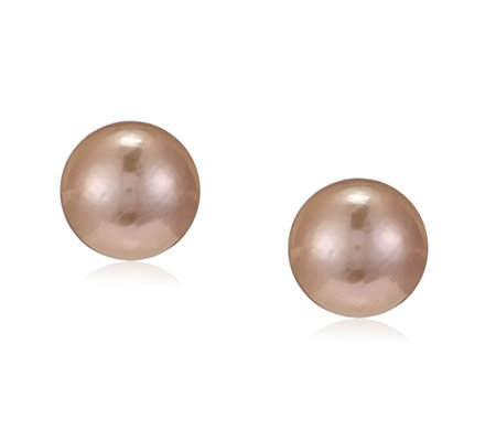 Honora 13-14mm Cultured Ming Pearl HappyBack Earrings 14ct Gold