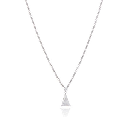 Elizabeth Taylor 3.5ct tw Triangle Drop 66cm Necklace