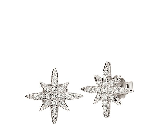 Folli Follie Fashionably Silver Snowflake Stud Earrings