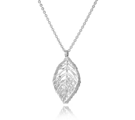 Frank Usher Encapsulated Crystal Leaf 80cm Necklace