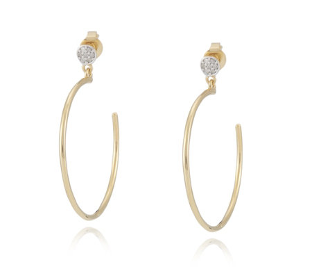 Lisa Snowdon Diamond Hoop Earrings Sterling Silver