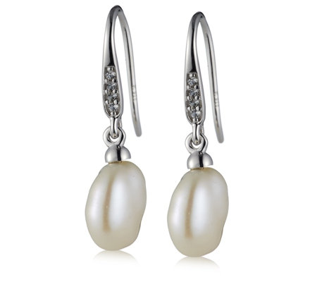 K by Kelly Hoppen Paris Collection Pearl Drop Earrings Sterling Silver