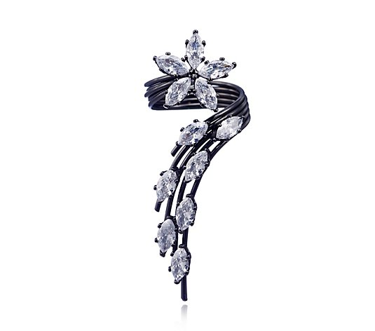 Butler & Wilson Crystal Flower Ring