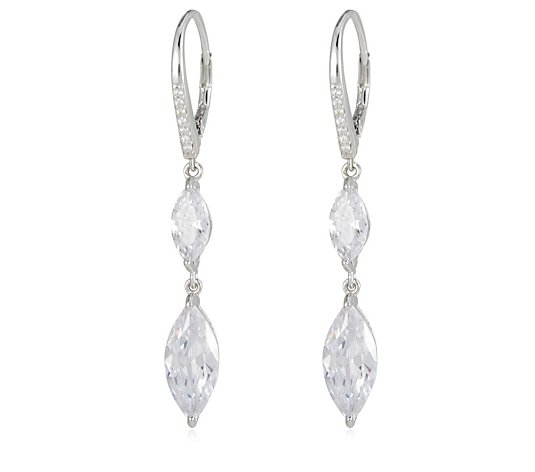 dq ss  double marq leverback earrings