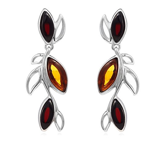 Amber Jewellery Designs Drop Earrings Sterling Silver