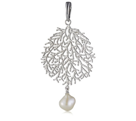 K by kelly hoppen capri collection pearl enhancer pendant sterling k by kelly hoppen capri collection pearl enhancer pendant sterling silver aloadofball Image collections