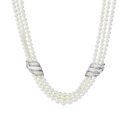 Princess Grace Collection Majorcan Pearl Wedding Gift 53cm Necklace
