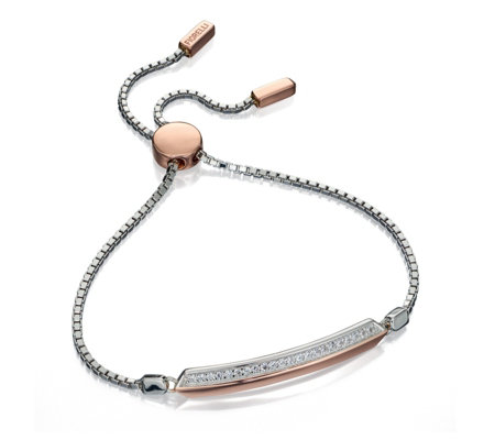 Fiorelli Friendship Bracelet Rose Gold Plated Sterling Silver