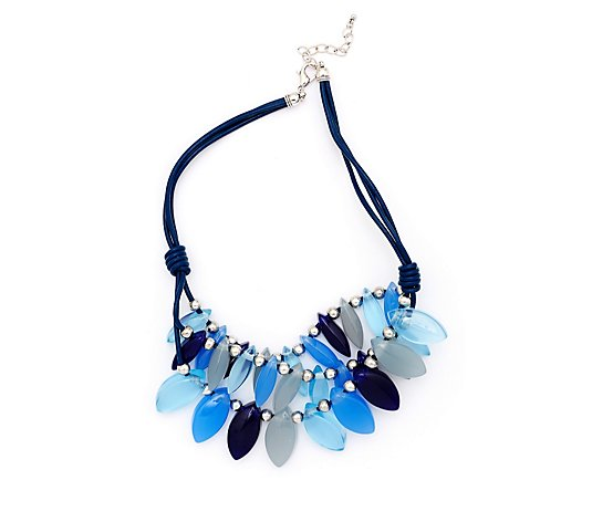 Frank Usher Resin Bead Statement 55cm Necklace