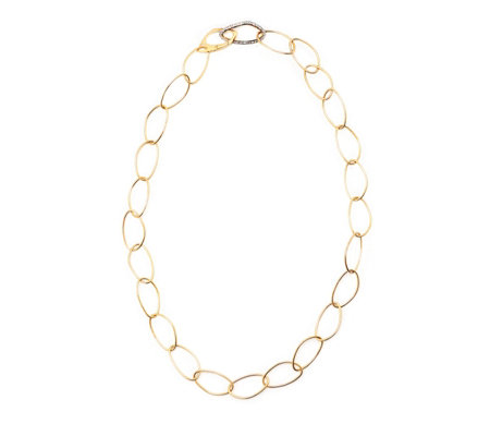 K by Kelly Hoppen Capri Oval Hero White Topaz 70cm Necklace Sterling Silver