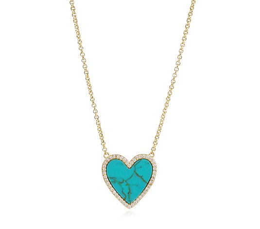 Escape by Melissa Odabash Heart Pendant Necklace Sterling Silver