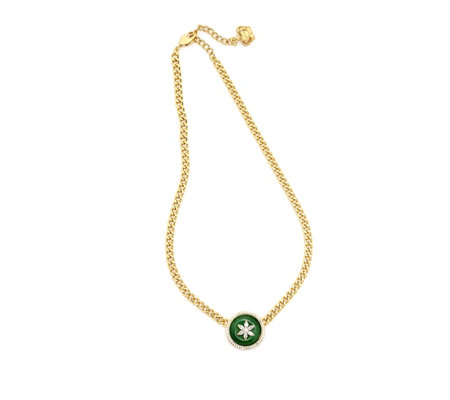 Butler & Wilson Jade Circle Flower 43cm Necklace