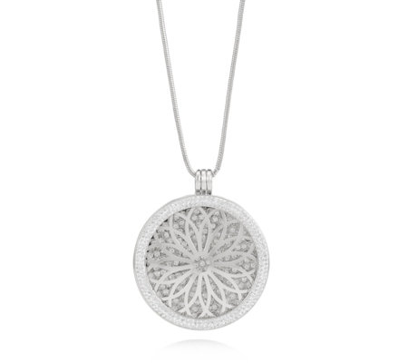 Frank Usher Crystal Interchangeable Disc 80cm Necklace