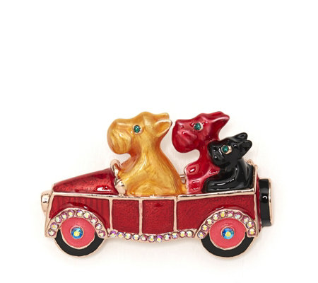 Butler & Wilson Driving Dogs Brooch